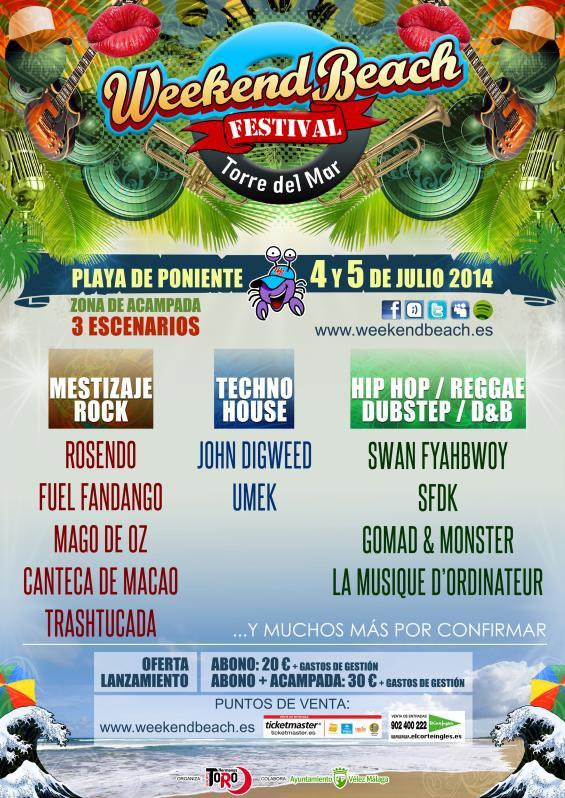 Weekend Beach Festival, 4 y 5 julio Torre del Mar